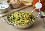 Sabzi polo | Riso saltato con spinaci, porri e coriandolo | Afghanistan