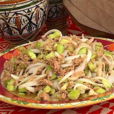 Grom soup Insalata di cetrioli, tonno e cipolle   Gambia