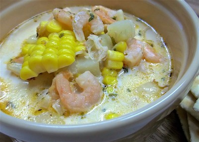 Cajun shrimp & corn soup | Zuppa cajun di gamberi e mais | Stati Uniti